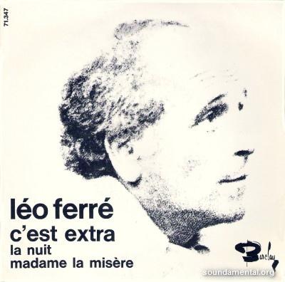 Léo Ferré - C'est extra / Copyright Léo Ferré