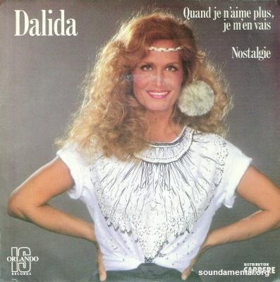 Dalida - Quand je n'aime plus je m'en vais / Copyright Dalida
