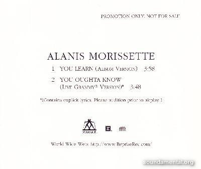 Alanis Morissette - You learn / Copyright Alanis Morissette