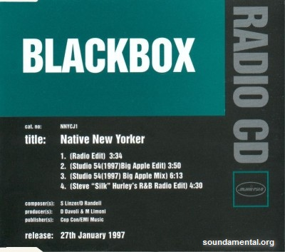 Blackbox - Native New Yorker / Copyright Black Box