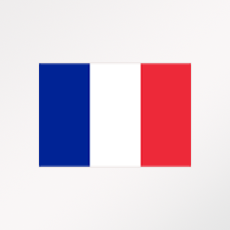 """Drapeau du pays ou de la zone """"France"""""""